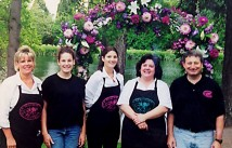 The Beaumont Florist team in 2001, left to right, Pattie Scarpelli, Abby Scarpelli, Sara Scarpelli, Amy Wailing and Patrick Scarpelli.
