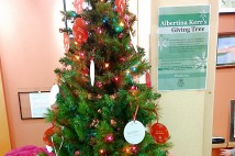 The Albertina Kerr Giving Tree located in the lobby of the Northeast Community Center. (Paul Tamlyn)