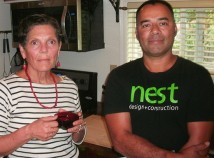 Jean Johnson, left, owner of the Johnson House, and neighbor Oscar Herrera, proprietor of NEST Design   Construction, are proud of their collaborative work to create Grandpas Bunkhouse. The Johnson House in Northeast Portlands Roseway Neighborhood includes two units, where visitors can stay for three nights or more, complying with Portlands new short-stay rental regulations.