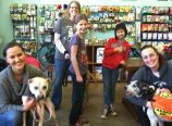 Volunteers from Family Dogs New Life recently brought some of the shelter's pooches to meet neighbors at Salty's Dog