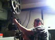 Dan Halsted, the Hollywood Theatre's head programmer, spent many years tracking down old parts to restore a projector to show 70mm film. The theatre will begin showing 70mm filma later this month. (Jane Perkins)