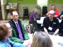 Senator Ron Wyden visited the Hollywood Senior Center during a tax assistance event. (Ted Perkins)