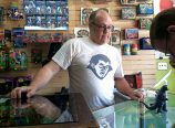 Proprietor Mark Pedersen of the Dr. Tongues I Has That Shoppe in Roseway has been bringing toys to the collecting community since the early 1990s. (Jane Perkins)