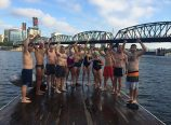 The River Hugger Swim Team is an advocacy swim group that works to demonstrate that the Willamette River is safe and fun to swim in. (Human Access Project)