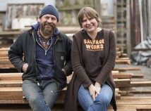 On July 16 , Preston Browning and Rachel Browning, co-owners of Salvage Works, celebrated the grand opening of their new space, five years in business and the debut of the first of four summer concerts as they expand their Third Thursday event. (Salvage Works)