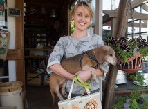 St. Johns schoolteacher Alice Arnold and Jack, her 12-year-old dachshund, shop at Dekum Street Doorway, a satellite location of Linnton Feed and Seed Store on Northeast Dekum.