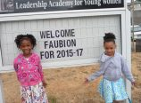 "Chinwe Davis, seven, left, and her sister, Ifetayo, five, will be among the Faubion School students attending classes in the Tubman Middle School building for the next two years. A new Faubion is scheduled to open in fall 2017 with space for Concordia University's School of Education, a partner in the 3 to PhD program, for ""Pursue Highest Dreams."" (Janet Goetze)"