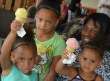 Albina Community Bank launched an innovative BizMob program in August, designed to promote the bank's local, business customers. The last event of the month was held at Roses Ice Cream in the Cully neighborhood. (Mary Edmeades/Albina Bank)