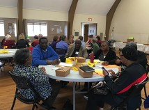 Neighbors from eleven Northeast Portland churches met at Westminster Presbyterian Church to share strategies for adressing poverty in our community. (Carol Turner)