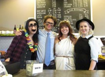 Melissa Park's Rust Coffee Lounge, next to the Hollywood Library, has added local beers and wines to the menu.The Rust crew, Shoshanah Zimmer, left, Rob Barnett, Park and Katie Dessin, were decked out for a Halloween-themed Hollywood Boster event. Erika Skille is not pictured. (Ted Perkins)