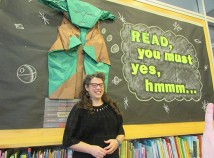 Danielle Jones enthusiasm for reading and her empathy for the library's younger patrons make it easy for them to like her. She loves sharing with them and relates to them at all levels as they develop life skills. (Jane Perkins)