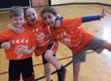 Young members ham it up at the Northeast Community Center. (Vicki Penfield)