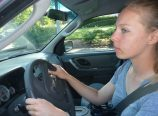 Hannah Bridges, 18, has been driving for about six months, after taking a hands-on driver education course in Vancouver, Washington. Some teens attend a safe driving class offered at Emanuel Hospital and Medical Center. (Janet Goetze)