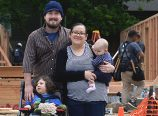Gabriel and Sylvia Triplett and their two children are having a better summer this year after moving into their Habitat for Humanity home. They said their former landlord raised their rent their rent twice in the past year and the new home made it possible for them to stay in the Cully Neighborhood. (Habitat for Humanity Portland)