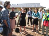 The Dharma Rain Center celebrated a $200,000 grant from the EPA for brownfield cleanup and mitigation at Siskiyou Square in June of 2015. (Dharma Rain Center)