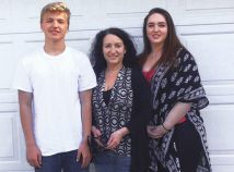 In a photo taken last Mother's Day, Cory Lumber, center, poses with her children Connor and Stacey. (DeAnn Ruth-Brandt)