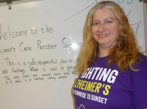 Rachel Levy is facilitator for a Sunday support group for caregivers of people with Alzheimers disease. (Janet Goetze)