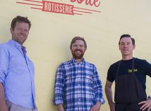 Kelly and Wade Shelton and their friend Ryan Gibson will open a second outpost of their popular Mexico City-style rotisserie chicken eatery in the Kerns neighborhood. (Lindsay Strannigan)