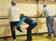 Participants in the Northeast Community Center's Parkinson's class focus on muscle strength, endurance, balance, fall prevention, and increased facial and vocal expression. (Northeast Community Center)