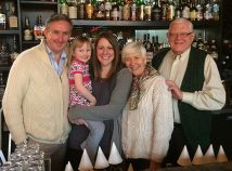 Tom O'Leary, left, with his daughter Áine, wife Siobhan and in-laws Anne and Dick Feeny, has opened T.C. O'Leary's Irish pub on Alberta Street in the former Branch Whiskey Bar space. (Jane Perkins)